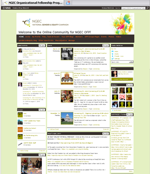 NGEC OFP Online Learning Community on Ning.com
